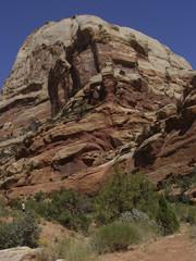 Domed sandstone rock formation