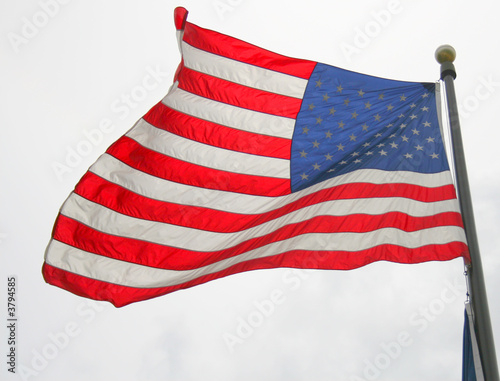 american flag waving in wind. American Flag Waving in the