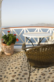 santorini house villa restaurant cafe patio dining view   poster