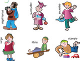 Children characters poster