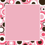 Pink, Brown and White Frame