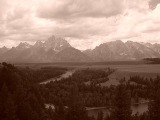 The Grand Tetons of Old