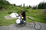 cyclist,cycling,camping poster