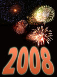 fireworks display background featuring text for new years eve poster