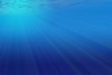 Underwater sunbeam poster