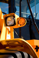 Detail of Digger Cab with Lights and Wheel Arch