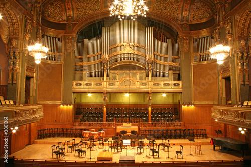 old auditorium, gold and velvet decoration - 3801361