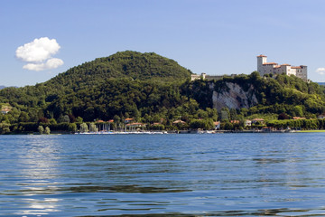 Maggiore lake in Italy (environs of Arona)