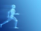 anatomie eines laufenden menschen poster