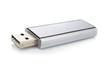 Leinwandbild Motiv Portable flash usb drive memory. Shallow DOF