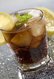 cold cuba libre drink close up shoot poster