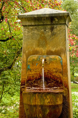 Old mineral fountain