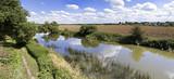 river avon stratford-upon-avon warwickshire england uk poster