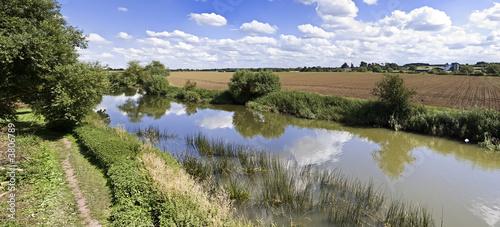 poster of river avon stratford-upon-avon warwickshire england uk