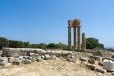 Temple of Pythian Apollo, mt. Smith, Rhodes, Greece poster