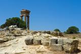 Temple of Pythian Apollo at mt. Smith, Rhodes, Greece poster