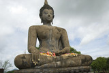Seated Buddha statue from Old City in Sukhothai,Thailand poster