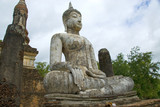 Seated Buddha statue in Old City,Sukhothai,Thailand poster