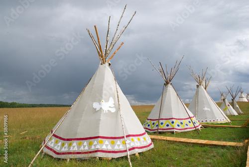 In de dag Indiërs American wigwam replica