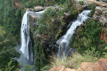 beuatiful water fall in south africa