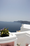 santorini house villa patio view  incredible greek islands poster