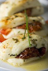 cooked cypriot halloumi cheese