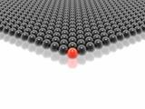 red leader of black balls group (hires 3D image) poster