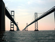 close up of the Chesapeake Bay Bridge of Maryland