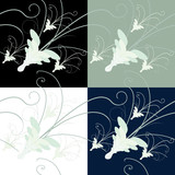 Generic seamless floral background tile pattern. poster
