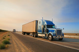 Truck on highway. California, USA