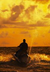sunset jetski