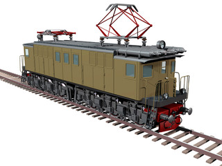 Locomotive vl-19-01 isolated with clipping path
