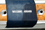 nautical welcome mat poster