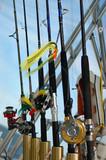 saltwater fishing poles poster
