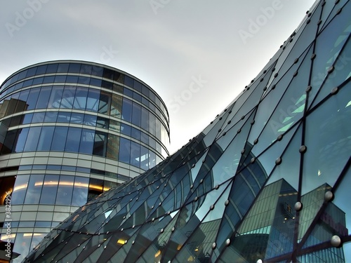 Glass building roof and tower - 3821956