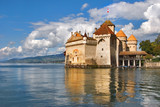 palace museum  Сhillon on coast of lake Leman in Switzerland poster