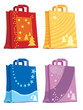 Illustration of shopping bags holiday designs