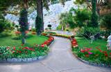 Public garden in Capri island