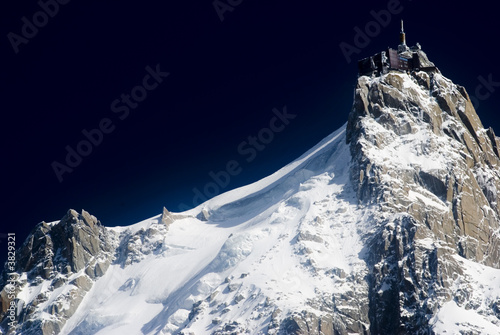 View of Aiguille Du Midi from Chamonix