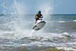 extreme  jet-ski watersports with big waves