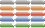 Empty colored glossy buttons bars poster