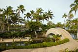 Tropical Resort Walkway and Bridge on Hawaii Kona Island poster
