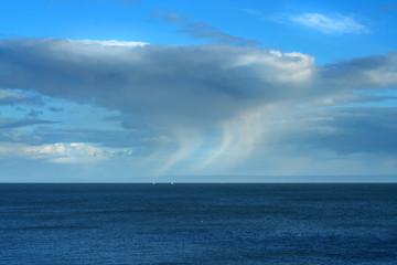 rain cloud on the horizon
