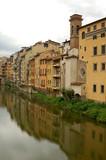 Homes near the Ponte Vecchio Bridge in Florence. poster
