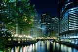 The Chicago River on a summer night.-