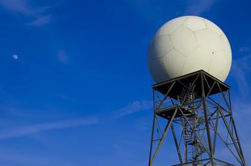 Doppler weather radar and moon
