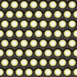 a large background of spot lights shining in the camera poster