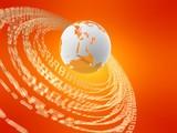 globus und binäre ringe poster
