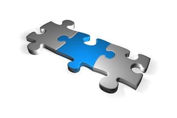 puzzleteil blau - puzzle piece blue