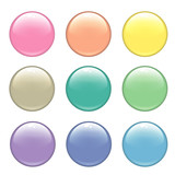 Glossy web buttons poster